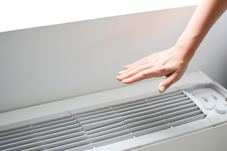 air conditioner and hand